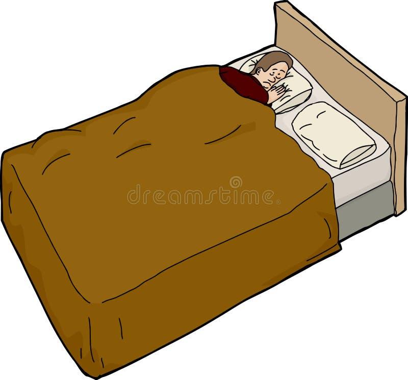Niespokojny mężczyzna Niezdolny Spać ilustracja wektor