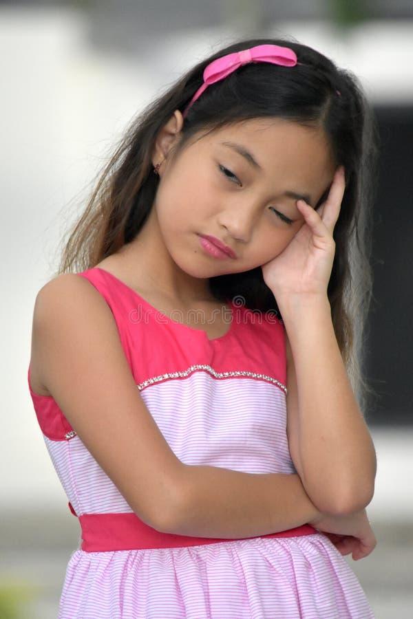Nieszczęśliwy Azjatycki nastolatek obraz royalty free