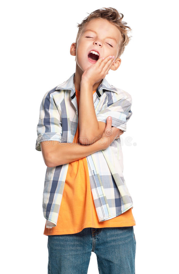 Nieszczęśliwa chłopiec zdjęcie royalty free