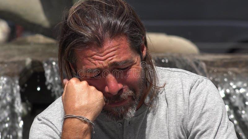 Nieszczęśliwa Europejska samiec zdjęcia stock