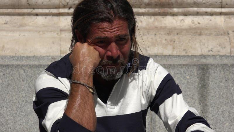 Nieszczęśliwa Kaukaska osoba fotografia stock