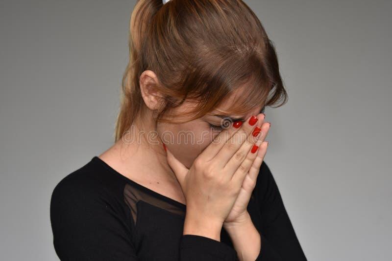 Nieszczęśliwa młoda dziewczyna zdjęcie stock