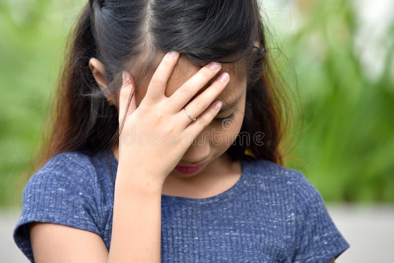 Nieszczęśliwa młoda dziewczyna obraz royalty free
