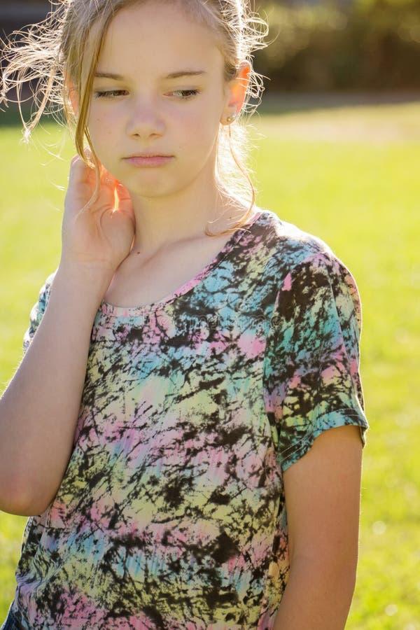 Nieszczęśliwa młoda dziewczyna zdjęcia stock