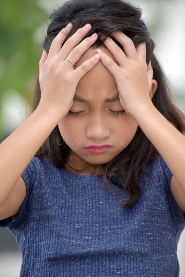 Nieszczęśliwa Młoda Różnorodna osoba zdjęcia royalty free