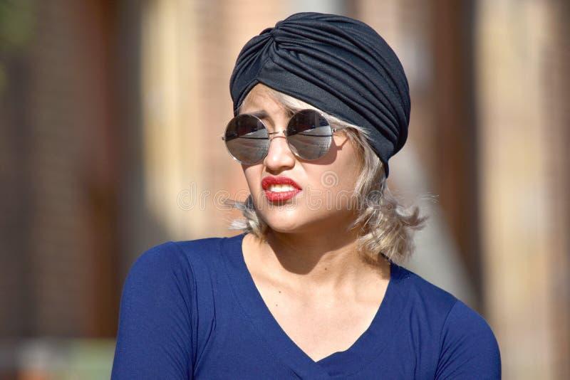 Nieszczęśliwa Muzułmańska kobieta zdjęcia royalty free