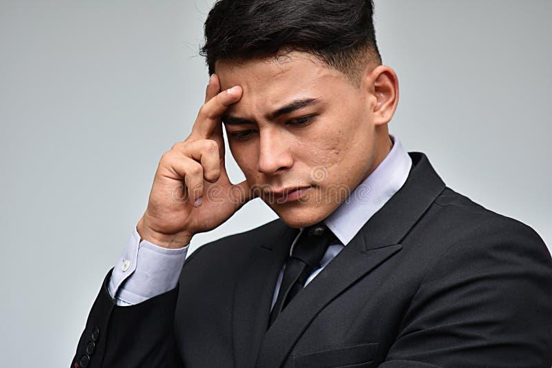 Nieszczęśliwy Latynoski biznesmen obrazy stock