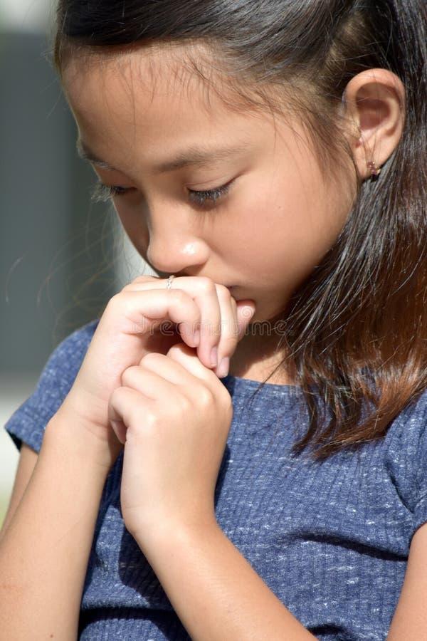 Nieszczęśliwy Młody filipinka kobiety nieletni zdjęcie stock