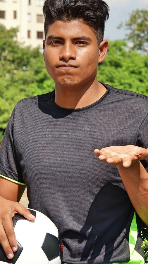 Nieszczęśliwy Młody Męski gracz piłki nożnej zdjęcie royalty free