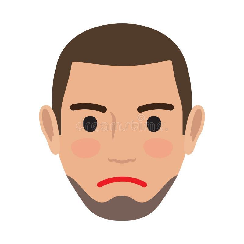 Nieszezególny mężczyzna Avatar użytkownika Pic Wektorowy Frontowy widok ilustracja wektor
