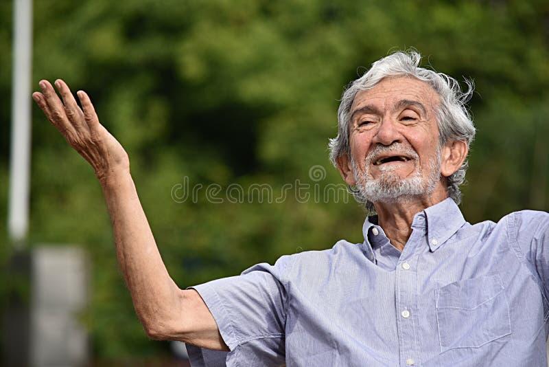 Niet afdoende Gebaarde Oude Mannelijke Grootvader royalty-vrije stock foto's
