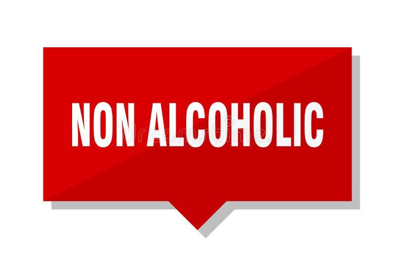 Niet alcoholisch prijskaartje royalty-vrije illustratie