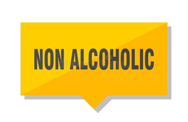 Niet alcoholisch prijskaartje vector illustratie
