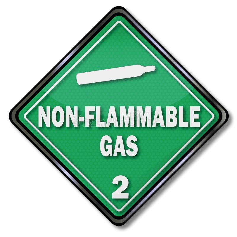 Niet brandbaar gas stock illustratie
