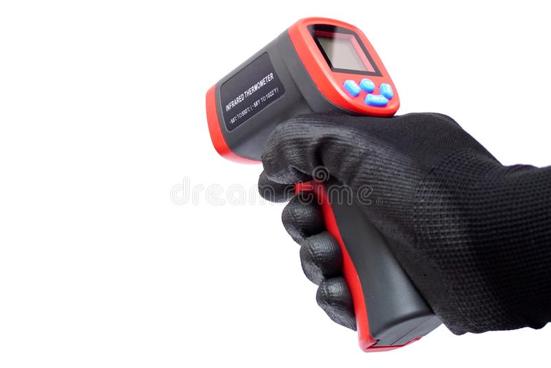 Niet-contact infrarode thermometer royalty-vrije stock afbeelding