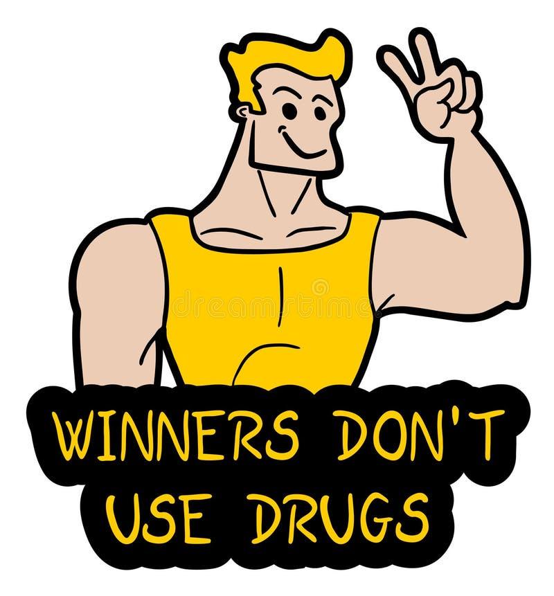 niet drugs vector illustratie