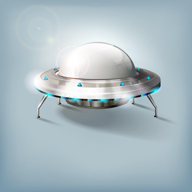 Niet geïdentificeerd vliegend voorwerp - UFO stock illustratie