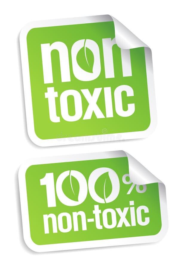 Niet giftige stickers. stock illustratie