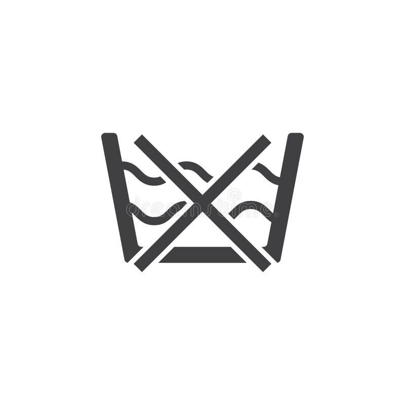 niet het wassende pictogram van de het symboollijn van de zorgwasserij royalty-vrije illustratie