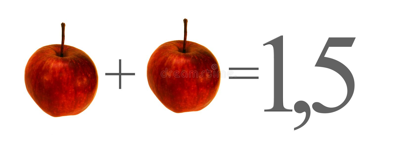 Niet horizontaal synergisme - - Spaans formaat stock afbeelding