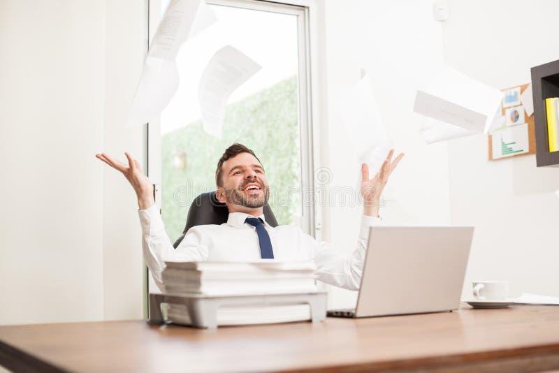 Niet meer werk, het is definitief Vrijdag! stock afbeeldingen