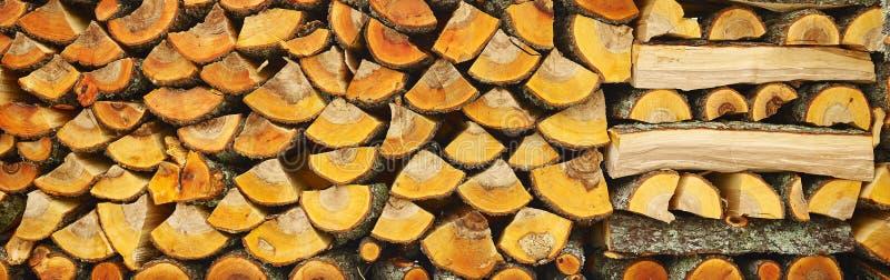 Nietje van biomassa, geschikt brandhout royalty-vrije stock fotografie
