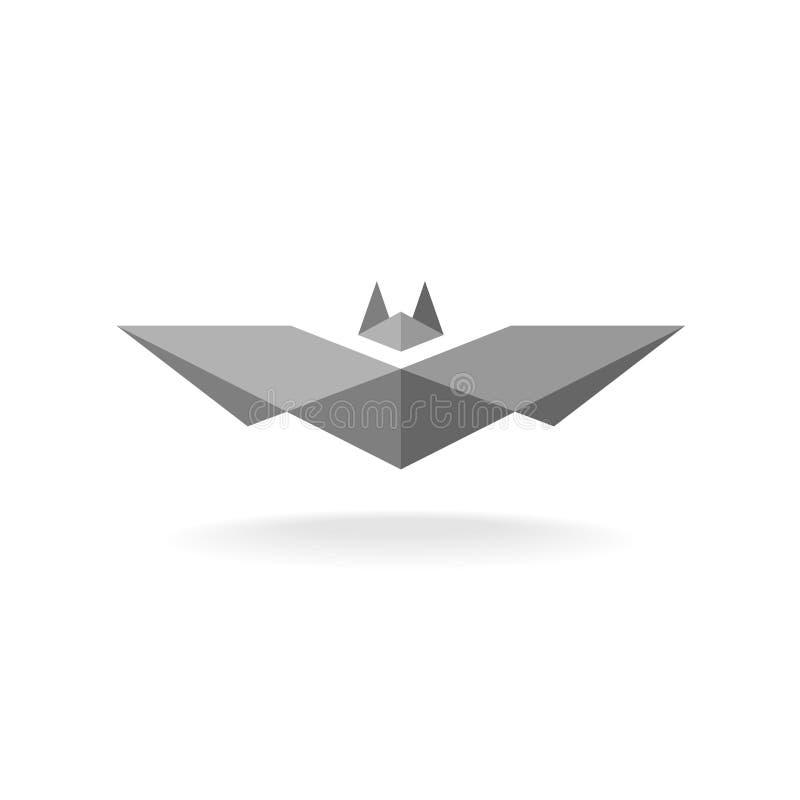 Nietoperza geometryczny logo royalty ilustracja