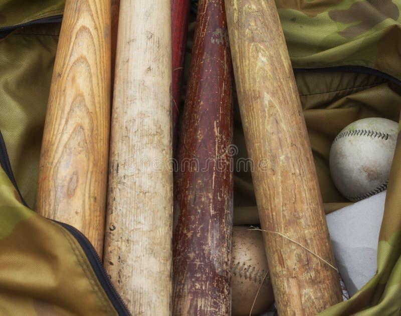 Nietoperze i Softballe zdjęcie stock