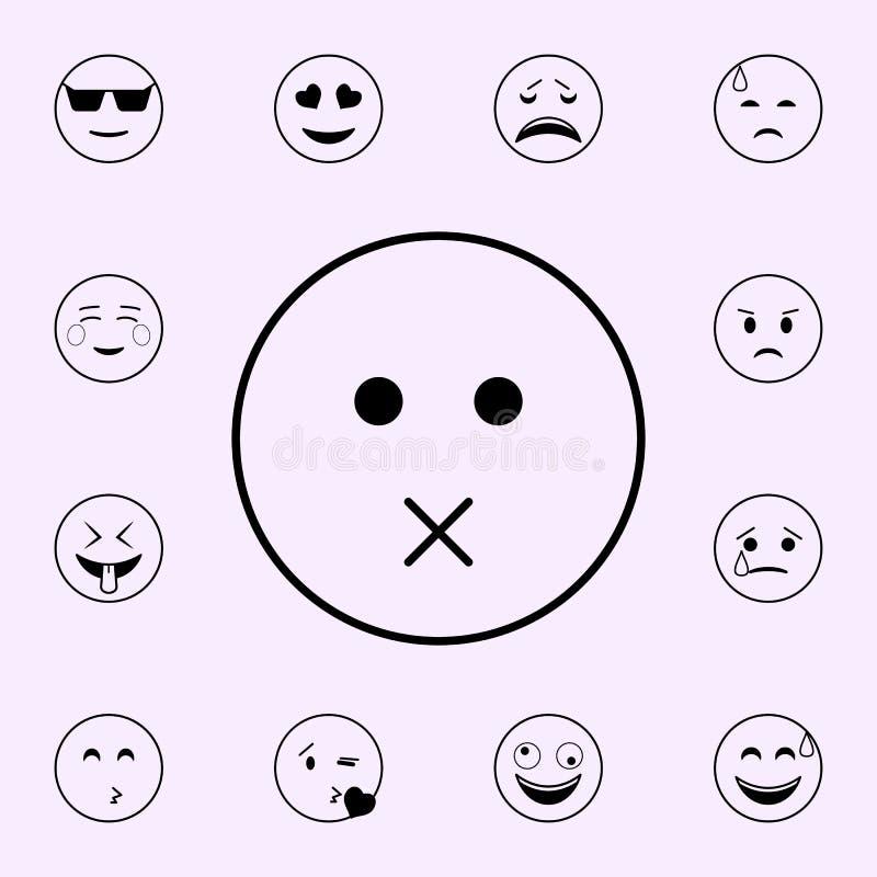 niets om pictogram te zeggen Voor Web wordt geplaatst dat en het mobiele algemene begrip van Emojipictogrammen royalty-vrije illustratie