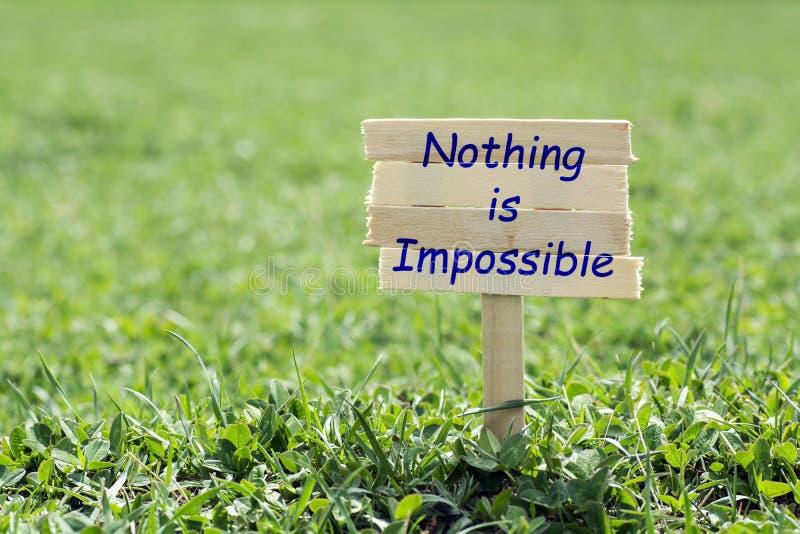 Niets is onmogelijk stock foto