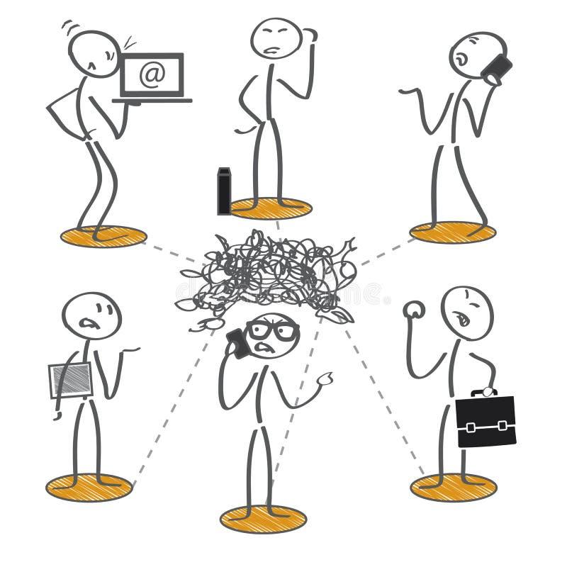 Nieudany komunikacja ilustracji