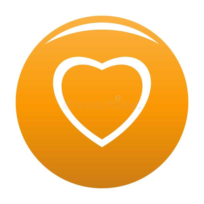 Nieustraszenie kierowa ikony pomarańcze ilustracji