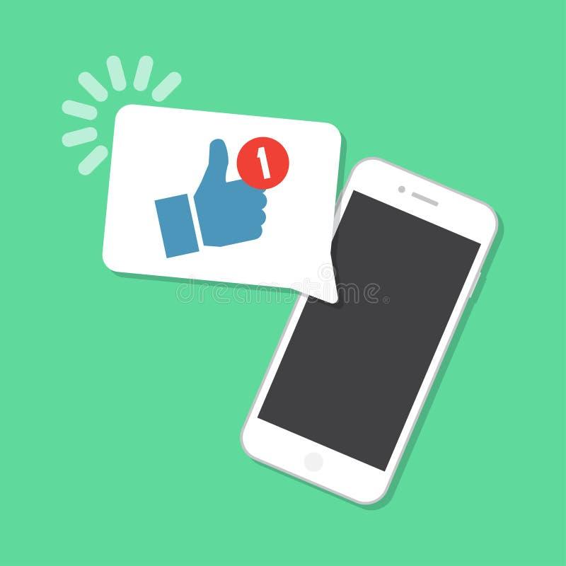 Nieuw als aangekomen op smartphone Berichtconcept stock illustratie