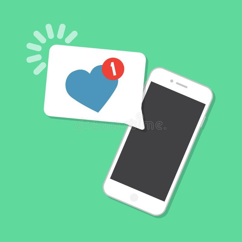 Nieuw als aangekomen op smartphone Berichtconcept vector illustratie