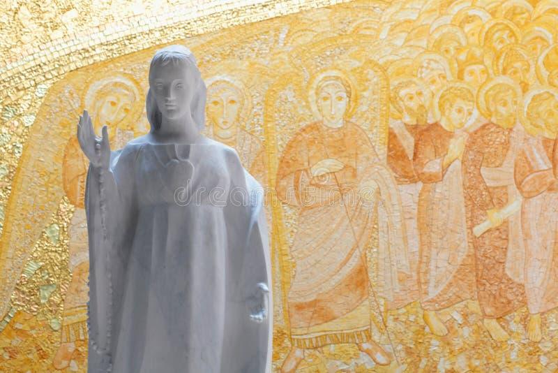 Nieuw altaar van Fatima stock afbeeldingen