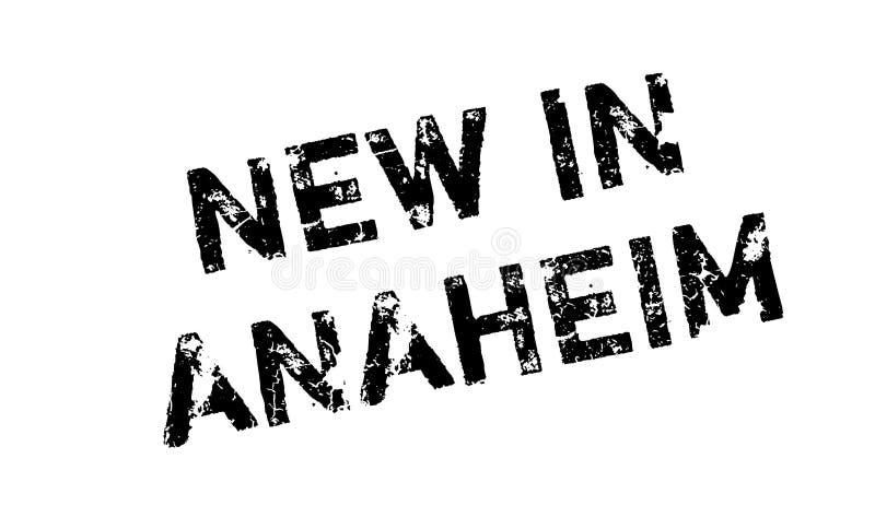 Nieuw in Anaheim rubberzegel stock illustratie