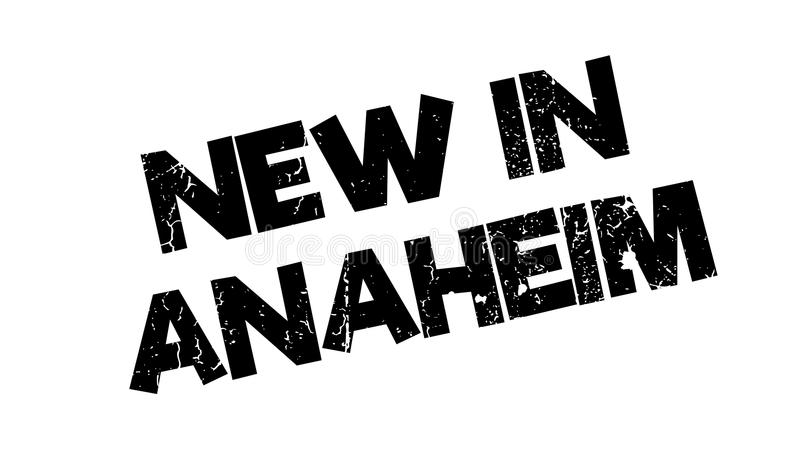 Nieuw in Anaheim rubberzegel vector illustratie