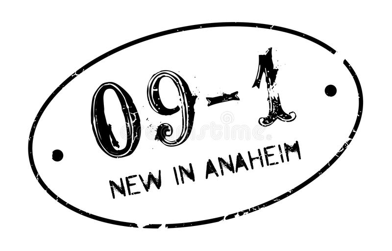 Nieuw in Anaheim rubberzegel stock illustratie