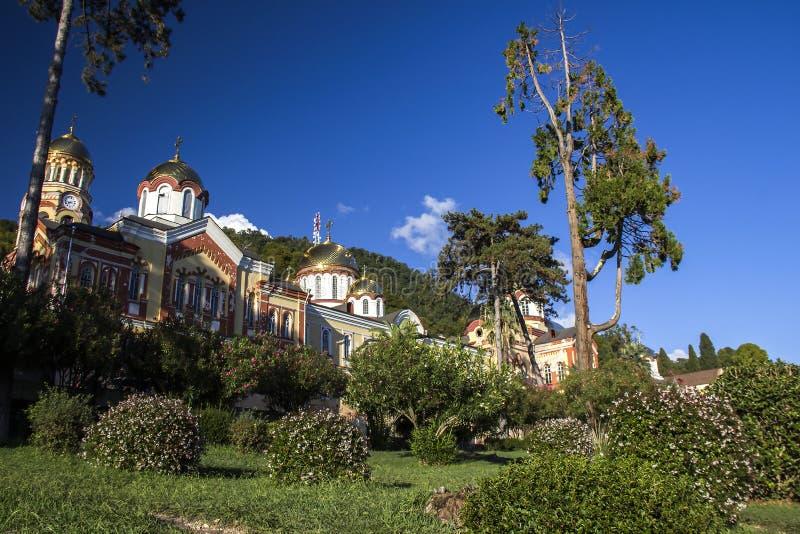 Nieuw Athos Monastery royalty-vrije stock afbeeldingen