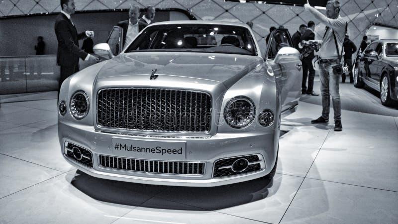 Nieuw Bentley Mulsanne stock foto