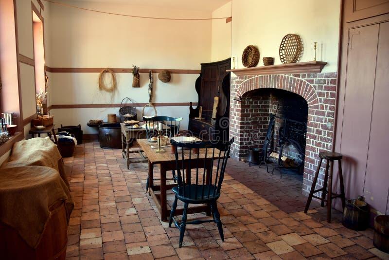 Nieuw Bern, NC: Keukenvleugel bij 1770 Tryon Paleis stock afbeeldingen