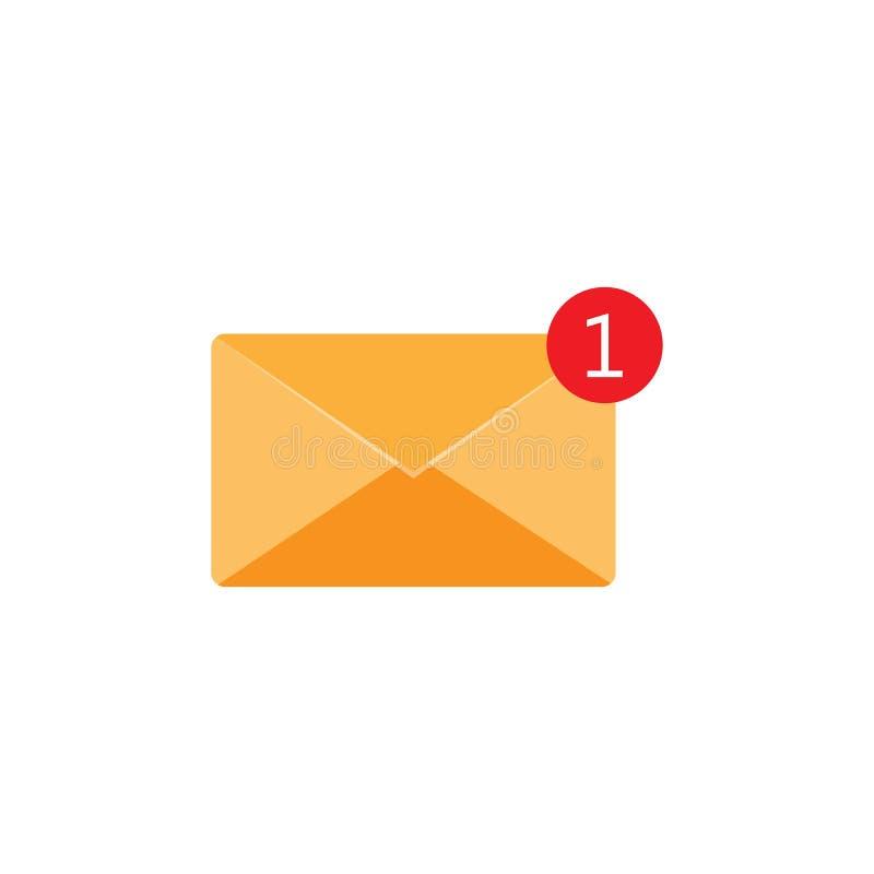 Nieuw binnenkomend berichtpictogram, berichtteken Post, e-mail Vector illustratie vector illustratie