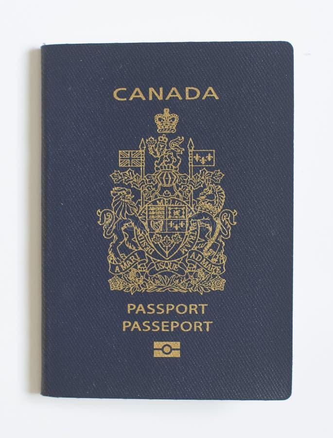 Nieuw biometrisch Canadees paspoort royalty-vrije stock fotografie