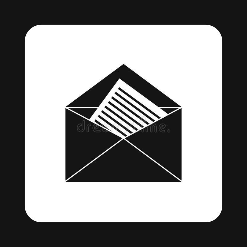 Nieuw brievenpictogram, eenvoudige stijl stock illustratie