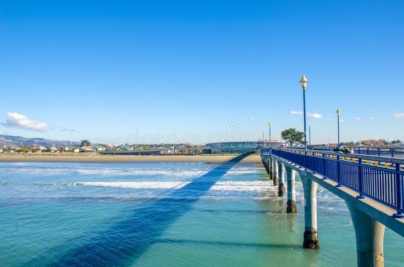 Nieuw Brighton Pier in Christchurch, Nieuw Zeeland royalty-vrije stock foto