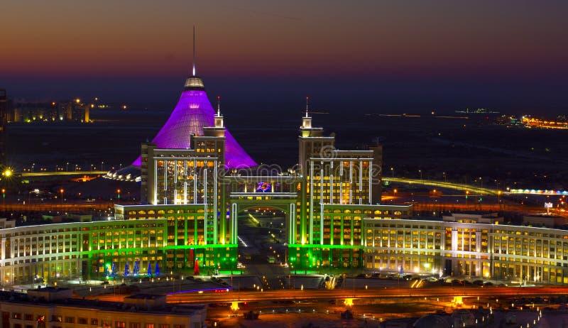Nieuw centrum van de stad in Astana royalty-vrije stock foto's