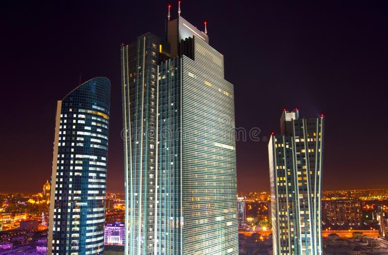 Nieuw centrum van de stad in Astana royalty-vrije stock fotografie