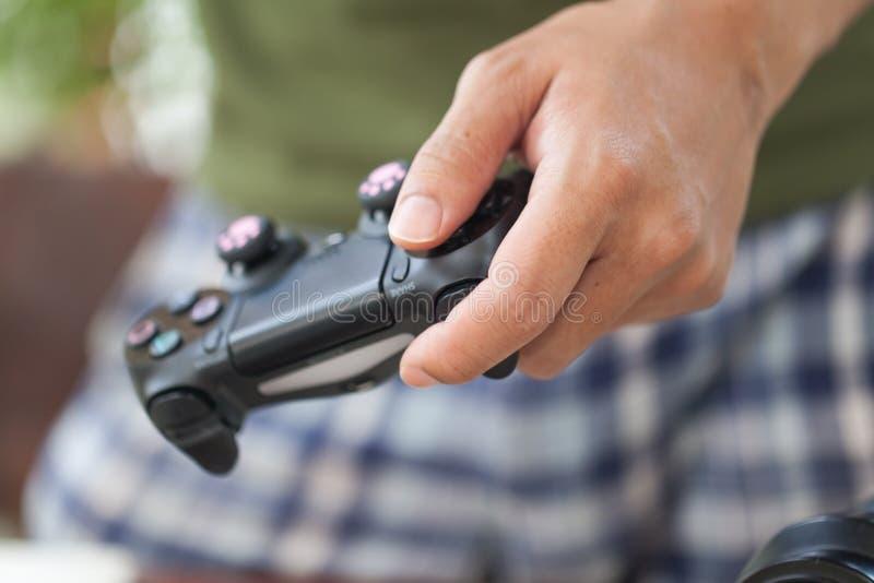 nieuw controlemechanisme 4 van Sony dualshock voor PS4 stock afbeelding