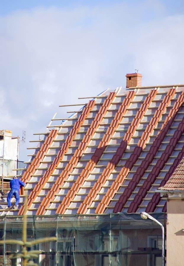 Nieuw dak stock afbeeldingen