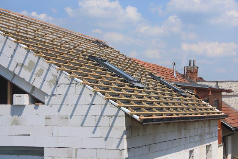 Nieuw dak royalty-vrije stock afbeeldingen